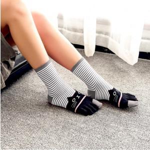 Prstové ponožky - kočičky
