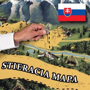 Stírací mapa Slovenska DELUXE XL