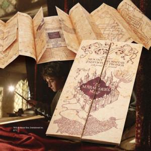 Harry Potter - replika záškodnické mapy