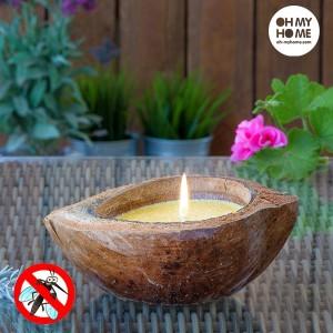 Repelent sviečka v tvare kokosu