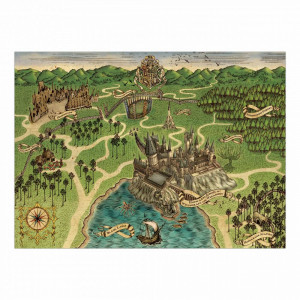 Harry Potter - mapa Bradavic