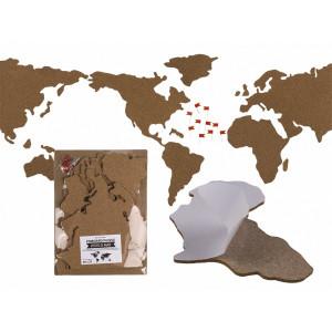 Korková mapa světa - puzzle