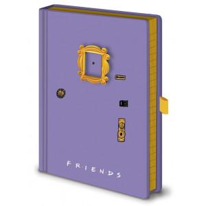 Přátelé - poznámkový blok v designu dveří