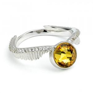 Harry Potter - prsten Zlatá střela Swarovski Deluxe