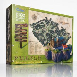 Puzzle 1500 - Mapa Česka