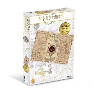 Harry Potter- puzzle Záškodnícka mapa - 1000 v2