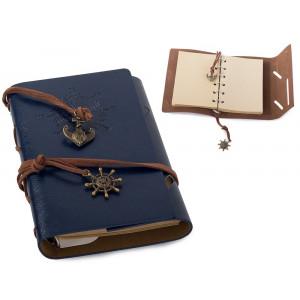 Cestovatelský retro zápisník - modrý