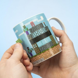 Minecraft - hrnek se samolepkami