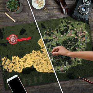 Stírací mapa Rakouska Deluxe XL