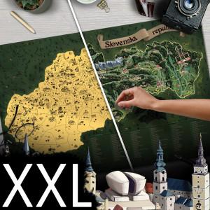Stieracia mapa Slovenska DELUXE - XXL