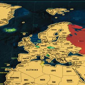 Stírací mapa světa - česká verze Deluxe XL