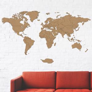 Dřevěná mapa na stěnu
