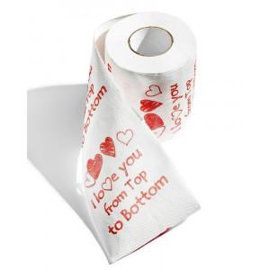 Toaletní papír XL  - I love you