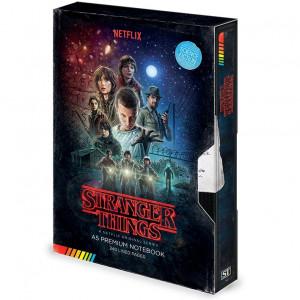 Stranger Things - poznámkový blok v dizajne VHS