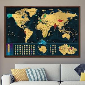 Zarámovaná mapa světa - Česká verze