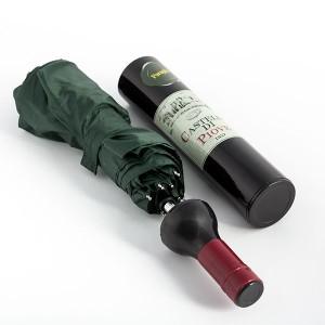 Dáždnik v tvare vínovej fľaše