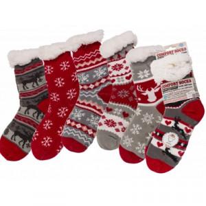 Teplé ponožky - vánoční - extra hrubé