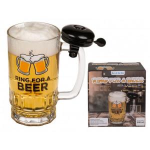 Sklenice na pivo se zvonkem