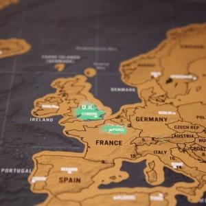 Harta răzuibilă pentru călătorii DELUXE